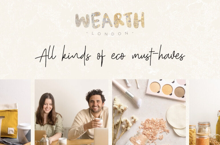 campaign spotlight of wearth london, an eco-friendly market place for sustainable brands to promote a greener lifestyle