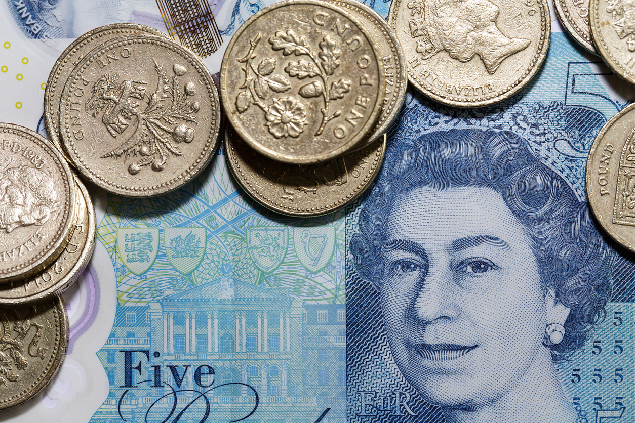 New Five Pound Note and One Pound Coins